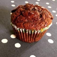 Muffin tout chocolat la recette / Cuisine / Blog 9 MOI(S) d'envies à Nantes, mode grossesse, mode femme, cuisine, kids, décoration, couture...