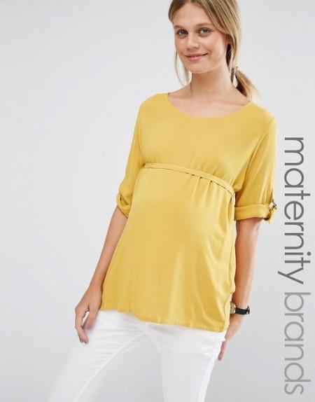 Mamalicious - Top tissé avec anneau en D, Blog 9 MOI(S) d'envies à Nantes, mode femme, mode grossesse, mode maternité, mode enfants, décoration, cuisine, couture, lifestyle